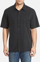 Quiksilver Men's Waterman Collection 'Tahiti Palms' Regular Fit Short Sleeve Sport Shirt