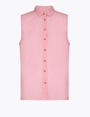 Marks and Spencer Pure Cotton Sleeveless Shirt