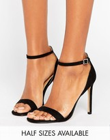 Asos HANG TIME Barely There Heeled Sandals