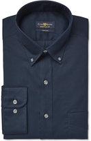 Club Room Estate Big Wrinkle Resistant Deep Ocean Solid Dress Shirt