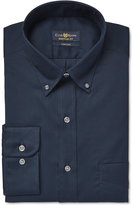 Club Room Men's Big & Tall Classic-Fit Wrinkle-Resistant Deep Ocean Solid Dress Shirt, Only at Macy's