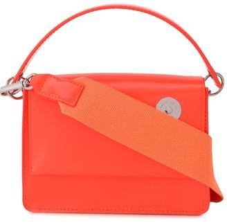 Kara Engraved Logo Top Handle Shoulder Bag