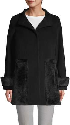 Cinzia Rocca Faux Fur Panel Coat