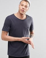 Nudie Jeans Nudie Worker Pocket T-shirt In Navy