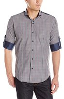 Bogosse Men's D-Evan 43 Long Sleeve Button Down Shirt