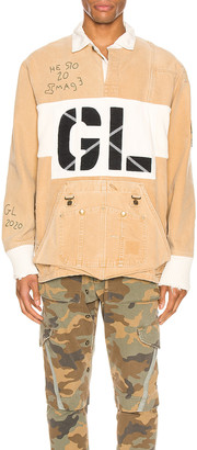Greg Lauren GL Rugby Jacket in Tan | FWRD