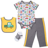 Chick Pea Four-Piece Cars Pyjama Set