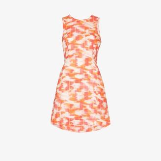 Three Graces Trinny ikat print linen mini dress