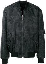 Yves Salomon camouflage print bomber jacket