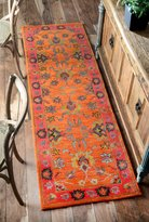 nuLoom 200SPRE21A-2608 Handmade Overdyed Traditional Wool Runner Rug (2-Feet 6 X 8-Feet)