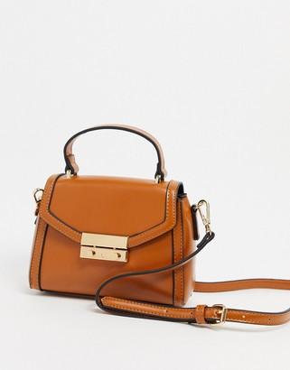 ASOS DESIGN satchel bag in tan