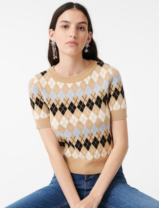 Maje Short-sleeved jacquard sweater