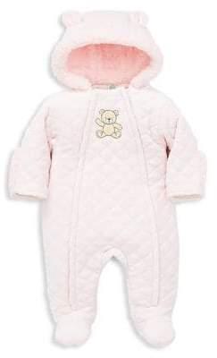 Little Me Baby Girl's Bear Faux-Fur Lined Pram