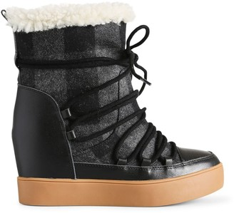 Shoe The Bear Women's Trish Check Wool Ankle Boots