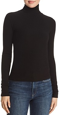7 For All Mankind Ribbed Turtleneck Top