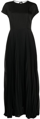 Peserico Pleated Satin Gown