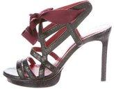 Lanvin Snakeskin Caged Sandals