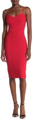 BCBGMAXAZRIA Sleeveless Midi Sweater Dress