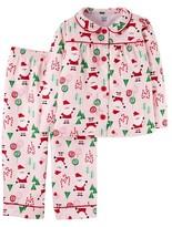 Just One You® made by Carter Toddler Girls' Long-Sleeve Fleece Coat Pajama Set Pink Christmas - Just One YouMade by Carter's®