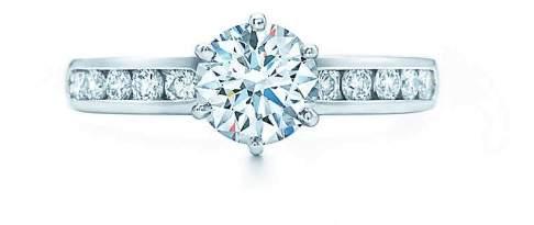 Tiffany & Co. Platinum Diamond Ring Size 4.5