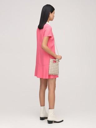 RED Valentino Crepe Envers Satin Mini Dress W/Bow