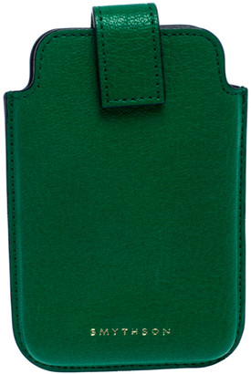 Smythson Green Leather iPhone 4 Cover