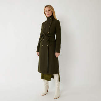 Warehouse MILITARY LONG FUNNEL COAT