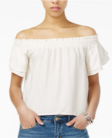 Astr Cameron Printed Off-The-Shoulder Top