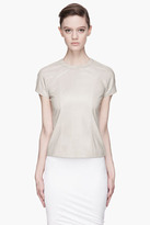 Alexander Wang Dusty pastel green Lightweight leather Zip Back T-shirt