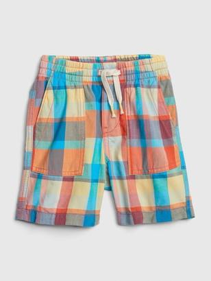 Gap Toddler Plaid Pull-On Shorts