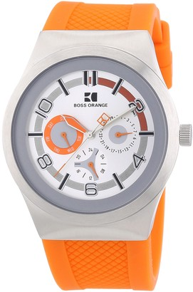 HUGO BOSS Unisex Analogue Watch with Silver Dial Analogue Display