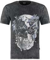 Just Cavalli Print Tshirt Black Bleach