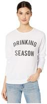 Original Retro Brand The Drinking Season Super Soft Haaci Pullover (White) Women's Clothing