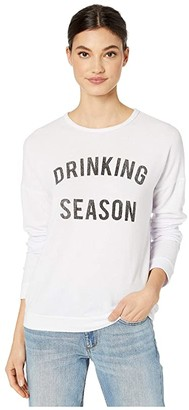 The Original Retro Brand Drinking Season Super Soft Haaci Pullover (White) Women's Clothing