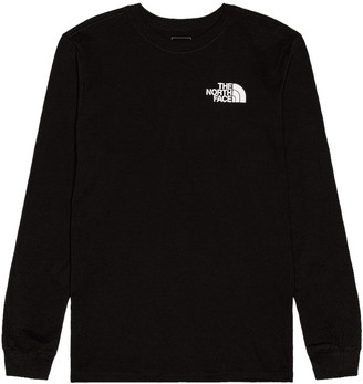 The North Face Long Sleeve Box NSE Tee in TNF Black | FWRD