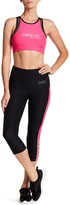 Bebe Colorblock Caged Cropped Leggings