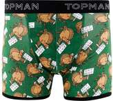 Topman Eat Beef Christmas Trunks