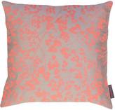 Clarissa Hulse Rue Cushion - 45x45cm - Pebble/Fluoro-Orange