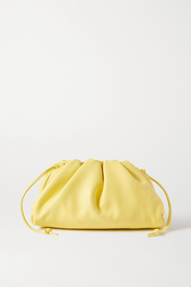Bottega Veneta The Pouch Small Gathered Leather Clutch - Pastel yellow