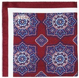 Eton of Sweden Ornate Large Medallion Bordered Pocket Square