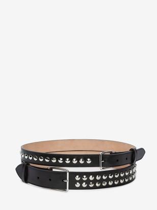 Alexander McQueen Studded Double Belt