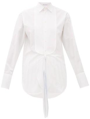 J.W.Anderson Oversized Cotton Tuxedo Shirt - Womens - White