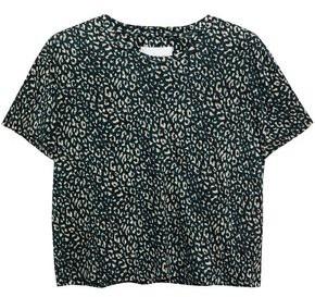 Current/Elliott The Clary Leopard-print Linen-jersey T-shirt
