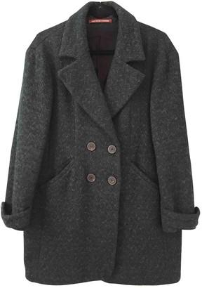 Comptoir des Cotonniers Green Cotton Coat for Women