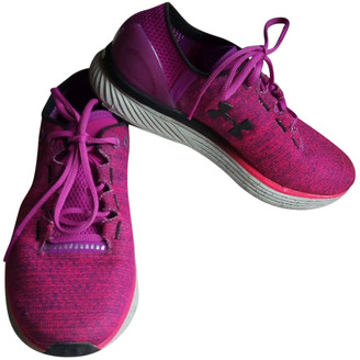 Under Armour Pink Polyester Trainers