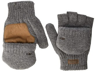 Outdoor Research Lost Coast Fingerless Mitts (Pewter) Over-Mits Gloves