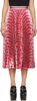 Gucci Pink and Red Pleated Lurex Hearts Skirt