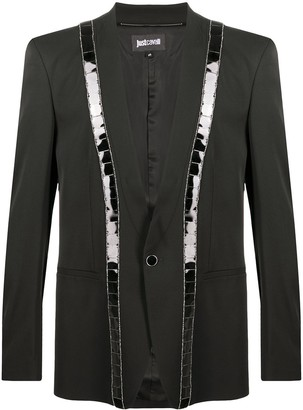 Just Cavalli Single-Breasted Sequined Blazer