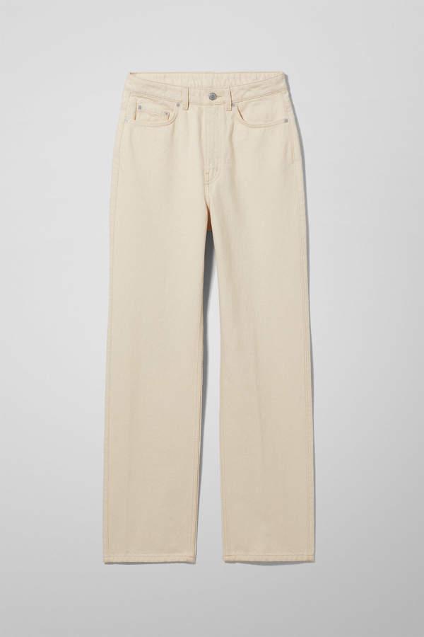 Weekday Row Ecru Jeans - Beige