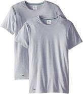 Lacoste Men's 2-Pack Colours Cotton Stretch Crew T-Shirt, Grey